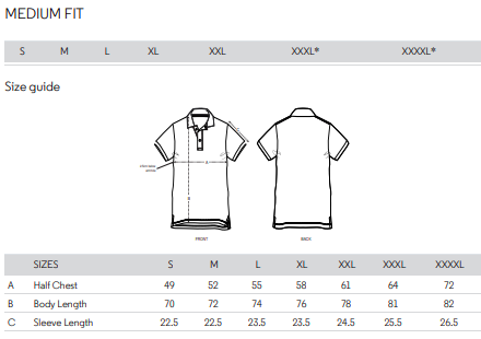 Size Guide Polo
